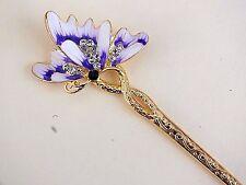 Viola Bianco dell'era Maji Butterfly Gold per capelli Bastone delle bacchette DONNA FANTASIA PARTY P3