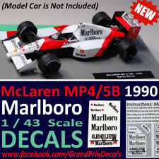 Formula 1 Car Collection MARLBORO DECALS McLaren 1990 MP4/5B Senna 1:43 scale