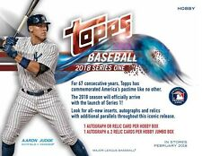 2018 Topps Series 1 Baseball (01/31) Factory Sealed Hobby Box + Silver Pack