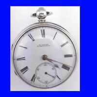 Mint Silver Wood of Warrington Fusee Lever 15 Liverpool Jewels Pocket watch 1857