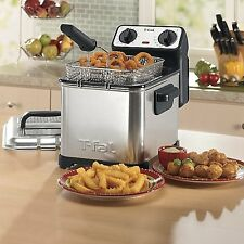 Mini Stainless Steel Deep Fryer Timer Countertop Kitchen Electric Fry Deepfry