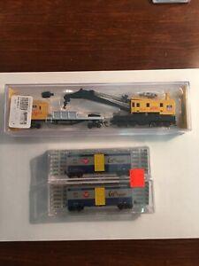 3 - Deluxe Innovations Boxcars Bachmann Crane Boom N Scale Train Railroad $1
