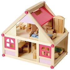 Beluga 70131 Puppenhaus mit Möbel Holz, 27 Teile Villa Bambini