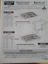 Jenn-Air Sealed Gas Cooktop JGC8430 & JGC8436 Installation Manual