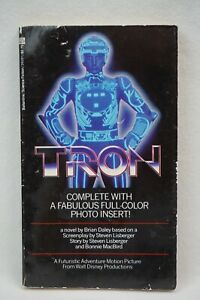 Vintage Tron by Brian Daley 1982 Del Rey paperback book WITH COLOR PHOTO INSERTS