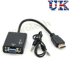 PC HDMI a VGA SVGA RGB Video + Adaptador Conversor de Audio Cable de plomo