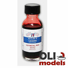 Transparent Hot Metal Red Lacquer 1oz Bottle - ALCLAD II LACQUER 411