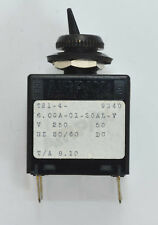 AIRPAX T21-4-6.00A-01-20AL-V TOGGLE SWITCH CIRCUIT PROTECTOR - USA made