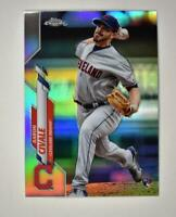 2020 Topps Chrome Base Refractor #143 Aaron Civale RC - Cleveland Indians