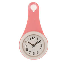 4inch Wall Clock Non Ticking Battery Operated Bathroom Suction Wall Clock
