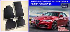 Tappetini Alfa Giulia in gomma set tappeti auto su misura auto bottoni fix grip