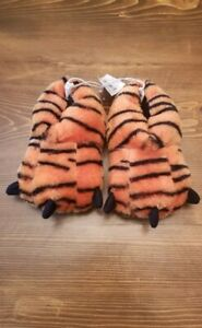 NWT Baby Toddler Boy Girl Unisex Tiger Paw Slippers Size 7/8 Halloween