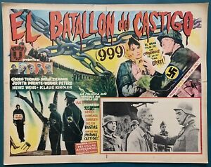 STRAFBATAILLON 999 George Thomas WWII GERMAN RUSSIAN Mexican Lobby Card 1960