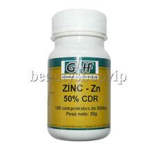 ZINC 100 comp 500 mg Sistema Inmunológico Antioxidante Piel Cabello Prostata