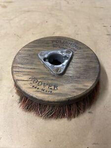 ORIGINAL VINTAGE Wooden Hoover Polishing Brush Head Wood Mancave Garage Attach