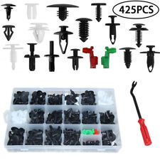 425PCS Auto Fastener Clip Push Rivets + Tool For Car Fender Bumper Door Surface