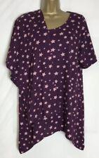 Evans Sample Purple Star Print Cotton Jersey Pyjama Set Size 14/16