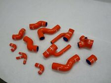 Red OBX Pure Silicone Turbo Hose Kit For 2000-02 Audi S4 2.7L Bi-Turbo