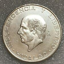 """1955 Mo Mexico Silver 5 Pesos Coin, """"Miguel Hidalgo y Costilla's"""", 18.05g, 35mm"""