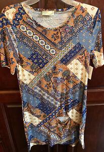 NWT Bobbie Brooks Women's Size Medium Shirt Dress PATCHWORK Floral Paisley