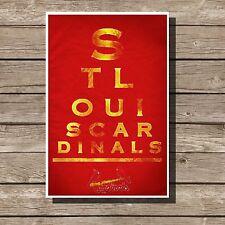 """St. Louis Cardinals Poster Sports Mlb Baseball Eyechart Art Print 12x16"""""""