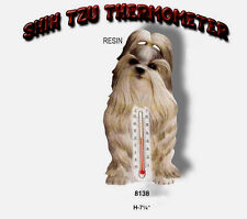 Shih Tzu Dog Stone Wall / Garden Thermometer New Usa Only