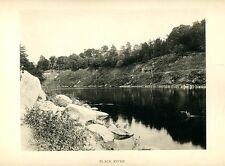 Vintage Collotype Photo Black River Watertown NY