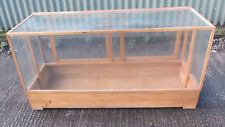 RARE OAK GLAZED HABERDASHERY SHOP DISPLAY CABINET-2 MAN DELIVERY AVAILABLE