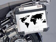 ARTISTIC IMPPRESION OF WORLD MAP BIKE PANNIE STICKER