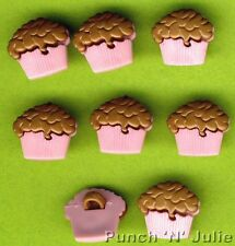 TOFFEE FUDGE TOPPING Cupcake Fairy Cup Cake Novelty Dress It Up Craft Buttons