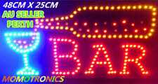 LED NEON BAR SIGN LIGHT B+C Plate for Business house Shop Bar SIZE: 48CM X 25CM