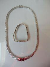 Fine Jewelry Set, Chain With Bracelet, 925 Silver, 38,8 Gram