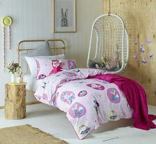 Forest Friends Pink Girls Single Bed Quilt Cover Set Jiggle Giggle Bedlinen