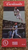 1980 Vintage St Louis Cardinals Baseball Media Guide MLB