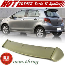 Painted For TOYOTA Yaris 2nd XP90 Hatchback S Type Rear Trunk Spoiler Core 06-11