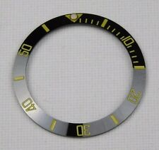 BLACK/GOLD CERAMIC BEZEL INSERT FOR 40MM ROLEX SUBMARINER 116610 LN - UK STOCK