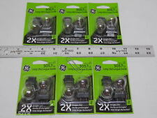 (12) GE 3057LL Miniature Lamp Bulb 27w 7w Plastic Wedge 12 volt S8 12v Free Ship