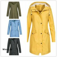 Ladies Autumn Womens Raincoat UK Jacket Summer Mac Outdoor Daily Rain Plus Size