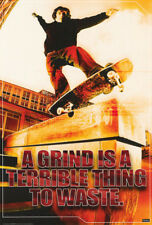 Poster : Skateboarding : A Grind Is A Terrible.- Free Shipping ! #24-162 Rc48 i