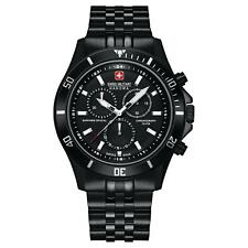SWISS MILITARY HANOVA MEN'S 42MM BLACK SWISS QUARTZ WATCH 06-5183.7.13.007