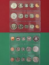 1991 P D S Proof & Mint Sets In Snap Tight Display Cases Combined Shipping