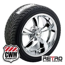 """17"""" inch Staggered 17x7"""" 17x9"""" Chrome Wheels Rims Tires for Ford Galaxie 1959-72"""