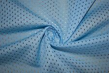 Sky Blue Athletic Sports Mesh Knit Polyester Football Jersey Fabric BTY