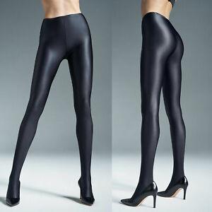 GATTA BLACK BRILLANT shiny glossy tight  100% OPAQUE S M L XL