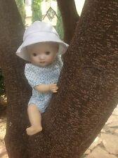 """Bleuette Brother Outfit For 10"""" Baby Doll. Dotted Romper & Hat. Fits Bambino 10"""""""