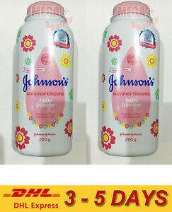 2 x 200g Johnson Summer Blooms Baby Powder Lilie Jasmine Rose