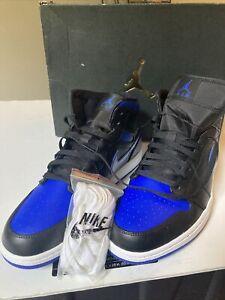 Nike Air Jordan 1 Retro Mid Hyper Royal/Black 554724-068 Men's Size 12