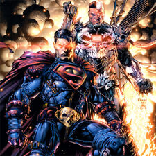 SUPERMAN David Finch ART PRINT Cyborg DARK NIGHTS METAL #3 SIGNED Danny Miki