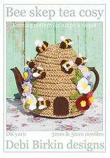 Beehive bee skep Tea Cosy knitting pattern Cosies cozy cozies