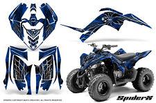 YAMAHA RAPTOR 90 2009-2015 GRAPHICS KIT CREATORX DECALS STICKERS SPIDERX BLUE